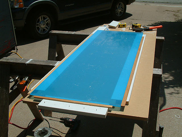 The Sheet Is In Place, And Then It Is Clamped In A Few Choice Spots, Just  In Case. You Donu0027t Want It To Shift.