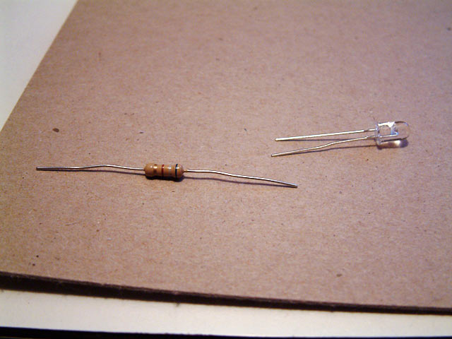 resistor - LED for reminder