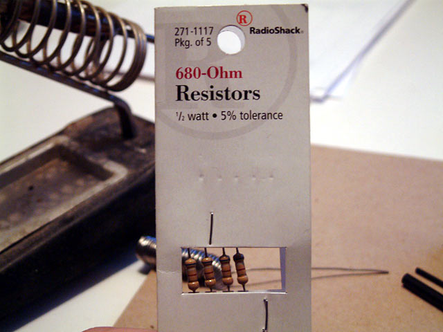 resistors - LED for reminder