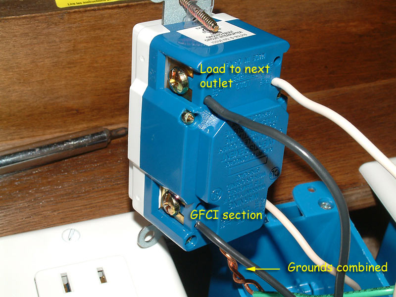 melt hot wire on gfi outlet bathroom insulation dryer cost you can side wire it but that is not normal practice and in some cases it makes it more difficult to get the gfi into the box